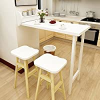 家庭用折り畳み式バーテーブル伸縮式壁掛けダイニングテーブルウォールテーブルバースツールシンプルダイニングチェアのコンビネーション ( 色 : Table )