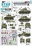 Star Decals 1/35 第二次世界大戦 米軍 AFV特集 3 欧州戦線の第6機甲師団 M4シャーマン/M5A1スチュアート/M3A1ハーフトラック プラモデル用デカール SD35-C1310