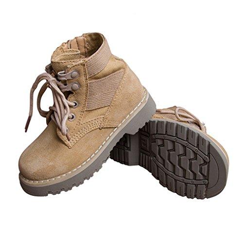 店舗]キッズブーツ 女の子 男の子 親子靴 親子ブーツ 黒/キャメル 14.7-27.0cm スエー...
