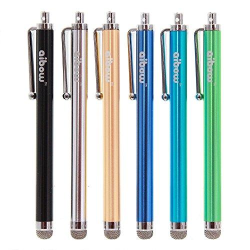 aibow タッチペン スマートフォン タブレット スタイラスペン iPad iPhone Android 交換式 6本セット 8mm (...