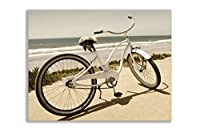 ビーチバイク、キャンバス–プレミアムアートプリントキャンバス 22x28