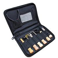 (なないろ館)アコースティック ギター ウクレレ メンテナンス ツール キット 8点セット 収納ケース付き