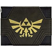 Nintendo Zelda Textured Gold Triforce Black ID & Card Bi-Fold Wallet