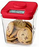 Kitchen Safe: Time Locking Container (Red Lid + Clear Base) - 14cm inside height