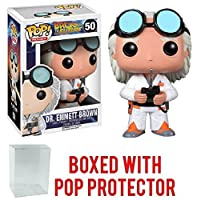 Funko Pop Movies: Back to the Future - Dr. Emmett Brown Vinyl Figure (Bundled with Pop Box Protector Case)