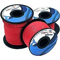 EMMAKITES 100%ダイニーマ 超高強度ポリエチレン繊維 2mm直径 31M 破断強度450kg レッド