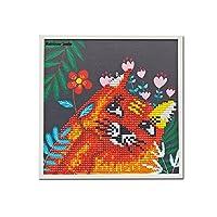 DIYダイヤモンドPaiting子供用フレームの子のペイントby NumberキットArts Crafts forホーム壁の装飾ギフト Rainbow Smile-us77