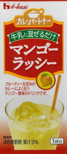 ハウス カレーパートナー 牛乳でつくるマンゴーラッシー 50g×10個