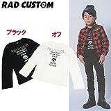 RAD CUSTOM(ラッドカスタム) 天竺「メタルストーンプリント」長袖Tシャツ【1603】【C】 160 オフ(01)