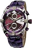 [サルバトーレマーラ]Salvatore Marra 腕時計 クロノグラフ カットガラス 革ベルト メンズ SM15115-PPSV [並行輸入品]