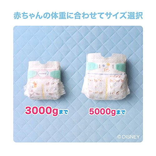 『【テープ 新生児サイズ】ムーニーエアフィット オムツ (5000gまで)111枚』の1枚目の画像