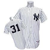 Majestic(マジェスティック) MLB ニューヨーク・ヤンキース イチロー ユニフォーム Authentic Player Jersey (ホーム) - 40(M)