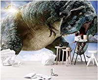Bzbhart 3D壁紙用リビングルームティラノサウルス・レックスジュラ紀恐竜家の装飾 壁壁画壁紙用壁-200cmx140cm