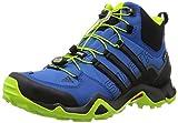 [アディダス] adidas トレッキングシューズ TERREX SWIFT R MID Gore-Tex AF6395 AF6395 (イーキューティーブルーS16/コアブラック/イーキューティーグリーン S16/27.5)