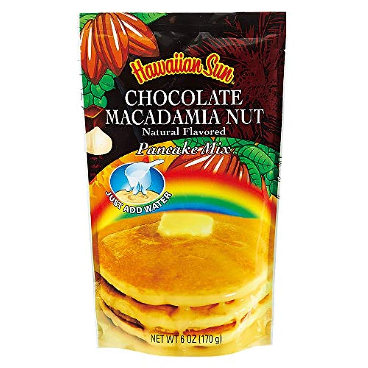 なぜなら修道院逃げる[賞味20.1/20] ハワイお土産 ハワイアンサン パンケーキミックス チョコレートマカデミア 170g