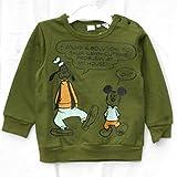 (ディズニー)Disney ディズニーベビー子供服 トレーナー ミッキー&グーフィー グリーン サイズ:95