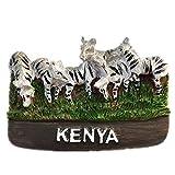 Kenyaケニア世界 3D 樹脂冷蔵庫マグネット コレクション 旅行 お土産 観光客 ギフト 家庭 キッチン 装飾 磁気ステッカー