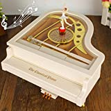 Music boxbox Fs Mechanical Classical Ballerina Girl Dancer The Piano Music Box(White)