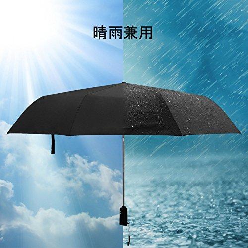 Hometek折り畳み傘梅雨対策ワンタッチ自動開閉二層生地完全遮光折り畳み遮熱耐風青空ブラック