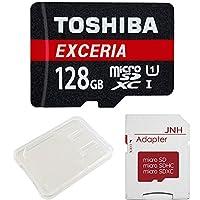 東芝 Toshiba 超高速U1 microSDXC 128GB 日本製バルク品 + SD アダプター + 保管用クリアケース [並行輸入品]