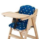 イマージ 木製チェア用クッション ネイビースター 綿100% 木製ハイ&ローチェア用