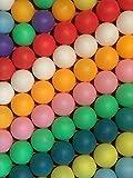 TAKASUE ピンポン玉 娯楽用 卓球ボール 収納袋付き プラスチック ボール 無地 カラフル 50個
