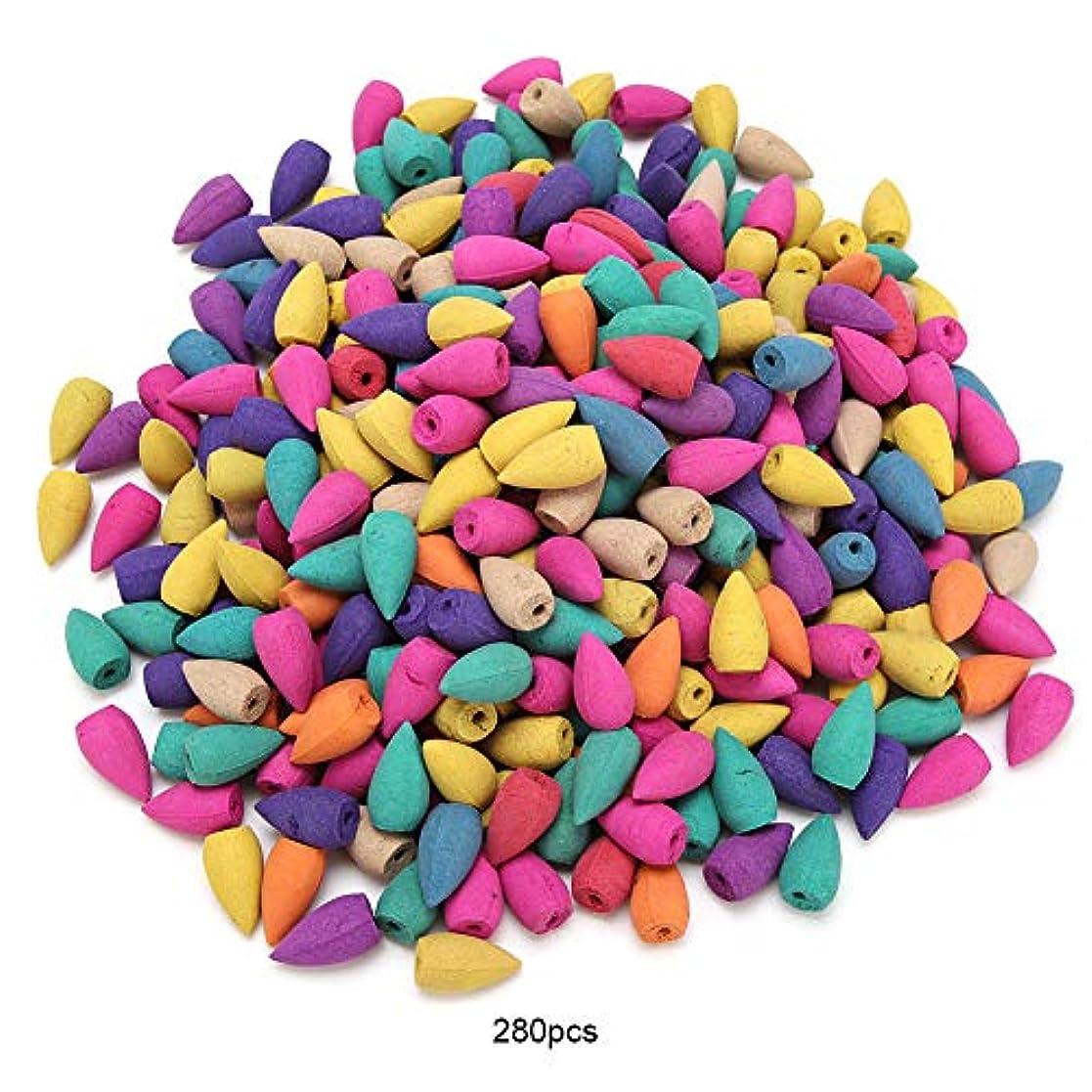 電化する単語バラ色芳香香コーン-280PCS天然芳香香スティック香水ビャクダンスパイス香