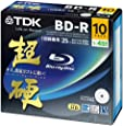 TDK 録画用ブルーレイディスク 超硬シリーズ BD-R 25GB 1-4倍速 ホワイトワイドプリンタブル 10枚パック 5mmスリムケース BRV25HCPWB10A