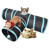 Lauva猫3通 トンネルペット用の おもちゃ トンネル ペット玩具, 猫トンネル ペット用品おもちゃ キャットトンネル 折りたたみ式3つのトンネル 子犬 うさぎ フェレットなど噛むおもちゃ ボールに付き