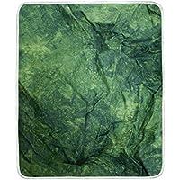 AOMOKI 毛布 シングル マイクロファイバー ひざ掛け 冷房/防寒対策 2枚合わせ 洗える 暖かい 保温 130x150cm 大理石模様 幾何学