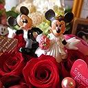 ディズニー フラワーギフト 結婚祝い 箱開けてスマイル ボックス入りプリザーブドフラワー ウェディングミッキー&ミニー B レッド