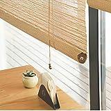 すだれ Exterior&IndoorライブラリーCafe Bamboo Blinds、Blackout Roller Shade Privacy Blinds With Hooks、85cm / 105cm / 125cm / 145cm Wide (Size : W 145×H 260cm)