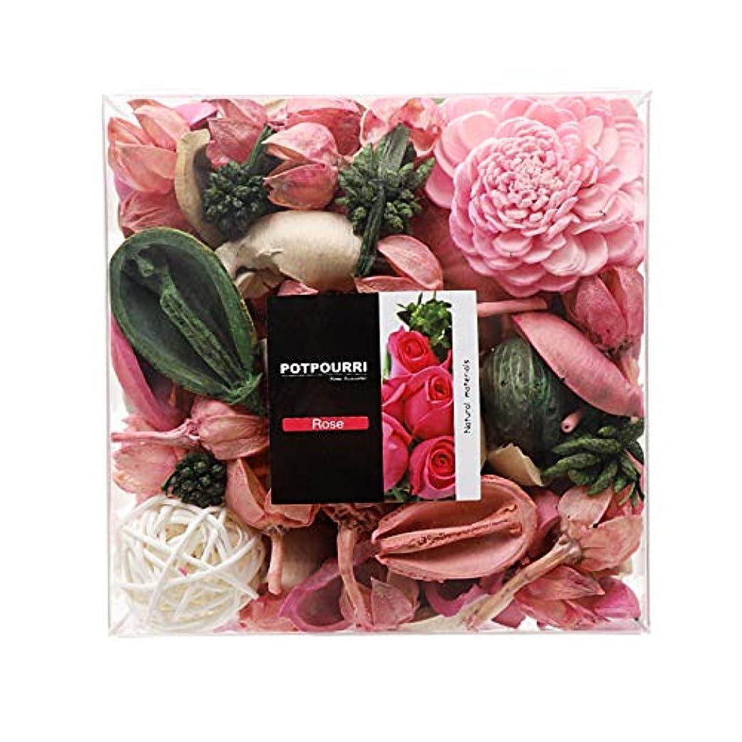 医薬配分控えめなQingbei Rina ポプリ ピンク 290g バラのポプリ ギフト 手作りの自然素材