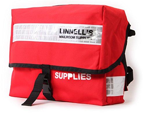 (マイケルリンネル) MICHAEL LINNELL リフレクター ビッグメッセンジャーバッグ[MLUK-01] Red×White