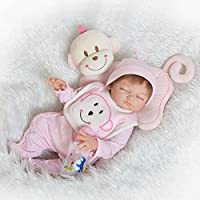 NPK Collection Reborn Baby Doll Soft Silicone 21inch 52cm Magnetic Lovely Lifelike Cute Lovely Baby sleeping baby doll