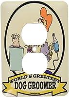 3drose LSP _ 103137_ 6Funny Worlds Greatest Dog GroomerレディースCartoon 2プラグコンセントカバー