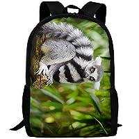 キツネザルの木大人の旅行バックパック学校カジュアルデイパック屋外のラップトップバッグ大学コンピュータショルダーバッグ