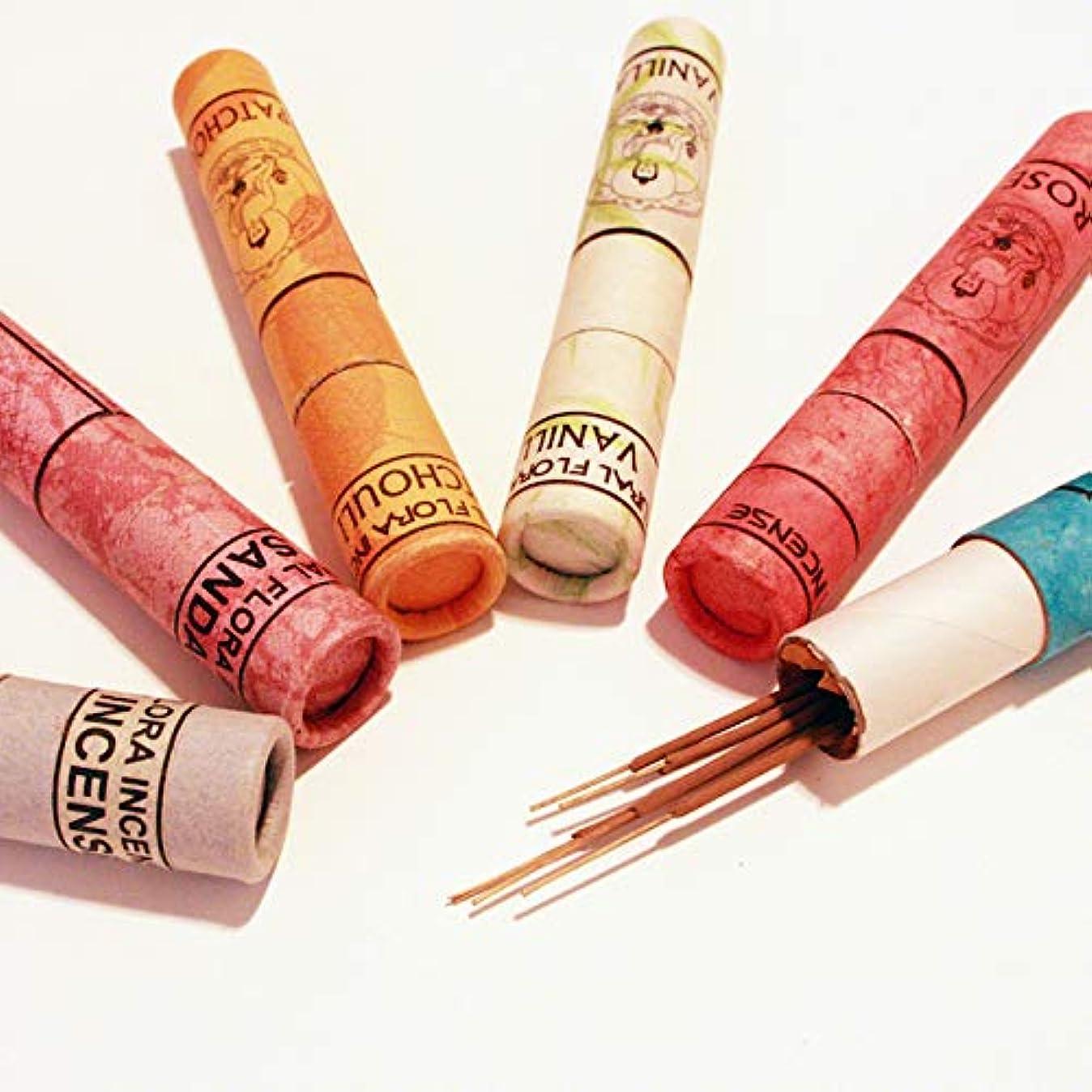 シリアル塗抹にやにや高級インド雑貨カオス ナチュラル インセンス スティックタイプ 40本入 お香立てつき (ミルラ)