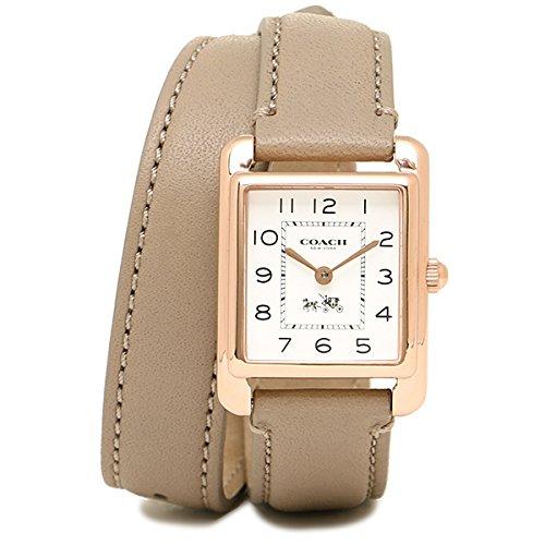 (コーチ) COACH コーチ 時計 レディース COACH 14502208 PAGE DOUBLE WRAP ペイジダブルラップ ブレスレット 腕時計 ウォッチ ホワイト/ブラウン[並行輸入品]