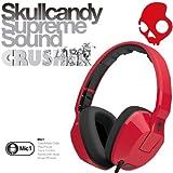 【日本正規品】 Skullcandy スカルキャンディー ヘッドホン CRUSHER クラッシャー レッド ブラック スマートフォン対応マイク付き