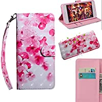 [Galaxy S9 Plus] Case, MGVV [Wallet Stand] Painting Colour Kickstand Credit Cards Slot Cash Pockets PU Leather Flip Wallet Case for Samsung Galaxy S9 Plus Red Flower