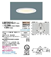 LGB72021C LE1 天井埋込型 LED ダウンライト 60形ダイクール電球1灯相当・浅型8H・高気密SB形・ビーム角24度・集光タイプ 埋込穴φ100 パナソニック電工 Panasonic
