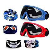 CloverTale Blaster Face Mask, Tactical Protective Goggles Glasses and Face Tube Mask for Nerf Guns N-Strike Elite Series, with 4 Pack Face Mask and 2 Pack Protective Glasses