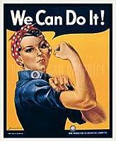 ポスター J.ハワード ミラー We Can Do It! 額装品 ウッドベーシックフレーム(ホワイト)