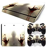 DAPANZ Zombie Vinyl Skin Sticker Decal Cover for Sony Playstation 4 Slim Console and DualShock 4 Controller Skin