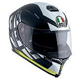 AGV(エージーブイ) バイクヘルメット フルフェイス K-5 S DARKSTORM MATT BLACK/YELLOW (ダークストーム マットブラック/イエロー) L (59-60cm) 004192HF-013-L