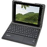 KKmoon 81キー Bluetoothキーボード ワイヤレスキーボード 超スリム薄型 折り畳み式磁気PUレザーケース付き 9.7-10.1インチ Android 3.0 Windows XP 7 8用