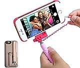 自撮り棒付き iPhone6s iPhone6 iphone6PLUS ケース カバー セルカ棒 有線 手元にシャッターボタン付き セルフィー ケース スマホケース じどり棒 一体型 (GOLD(iphone6/6s用))