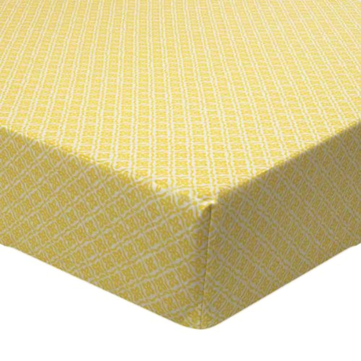 Sunshine Yellow Floral Fitted Crib Sheet by True Baby by True Baby