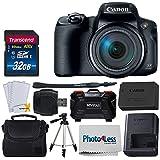 Canon PowerShot SX70 HSデジタルカメラ + Transcend 32GB SDHCメモリーカード プレミアムクラス10 + カメラ/ビデオケース (ブラック) + 60インチカメラビデオ三脚 + メモリーカードハードケース (カードスロット24個) + USBカードリーダー